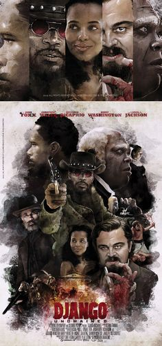 The Art of Django Unchained in Movie Poster's | Inspirations Area