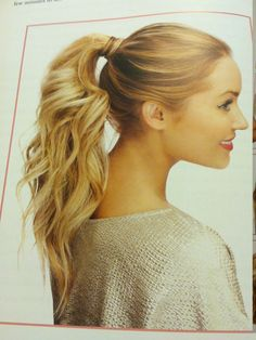lauren conrad curly ponytail