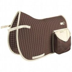 Bags for the saddle Horse Riding - Trail saddle cloth brown FOUGANZA - Saddles and Tack