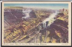 Hibbing-MN-Iron Ore Mine-Goodrich Tire Advertising Postcard | eBay