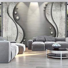 murando - Fototapete Beton 400x280 cm - Vlies Tapete - Moderne Wanddeko - Design Tapete - Wandtapete - Wand Dekoration - Kugeln Abstrakt f-A-0227-a-b: Amazon.de: Baumarkt