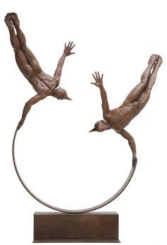 Balanza de voladores, Jorge Marin. Bronze.