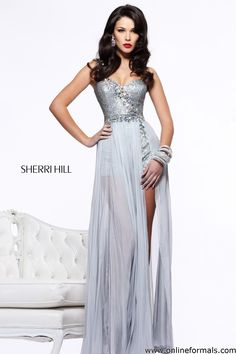 Sherri Hill 21056 One Shoulder Romper Prom Dress $500