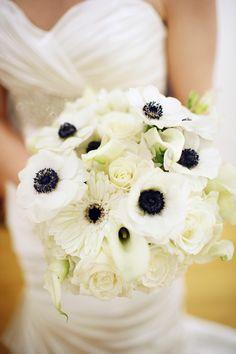 White Anemone Bouquet 275x412 Frederick Wedding Ceremony: Jackie + Kendall