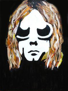 "Kurt by Katy Hirschfeld | $250 | 18""w x 24""h | Original Art | http://www.vangoart.co/buy/art/kurt @VangoArt"