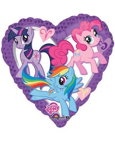 My Little Pony Friendship 18″ Heart Shaped Foil Mylar Balloon