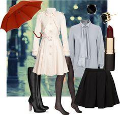 Winter Style - dressing for all seasons in a little black skirt