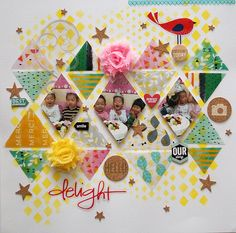 Seungeun Lee's craft room: scrapbooking 'Delight '( The Studio Challenges )