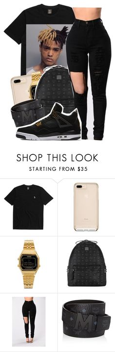 """""""XXXTENTACION✨"""" by maiyaxbabyyy ❤ liked on Polyvore featuring Casio, MCM and NIKE"""