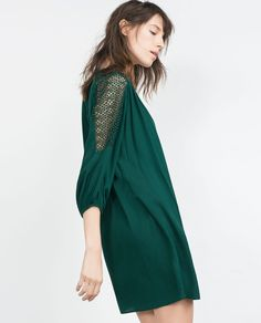 Image 4 of COMBINED GUIPURE DRESS from Zara