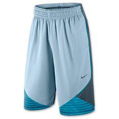 Men's Nike LeBron 12 Inch Chainmail Basketball Shorts| FinishLine.com | Light Armory Blue/Armory Slate