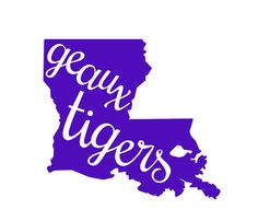 Geaux Tigers cutout Car Decal by Rebecca Lane Graphics on Etsy!