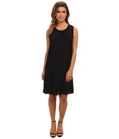 Calvin Klein Calvin Klein  SL Rib Trim Dress Black Womens Dress for 64.99 at Im in!