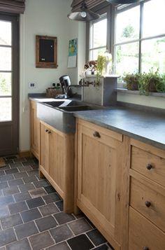Keuken on pinterest met concrete kitchen and vans - Keuken steen en hout ...