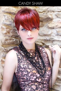 Hairstyle of the Month - Red Hot Pixie