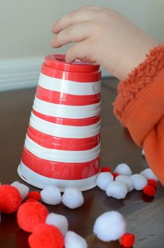 A Cat in the Hat game - fine motor game fun for preschoolers and toddlers!