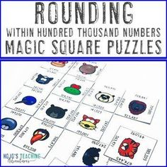 Rounding Numbers to Hundred Thousand Math Centers Activities or Games | 3rd, 4th, 5th grade, Activities, Games, Homeschool, Math, Math Centers, Mental Math, Numbers Rounding Numbers, Math Numbers, Math Math, Maths Puzzles, Activity Centers, Math Centers, Magic Squares Math, Reading Recovery, Ell Students
