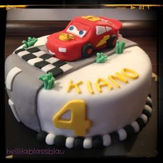 Cars Lightning McQueen - New Ideas Fire Engine Cake, Engineering Cake, Low Fat Cake, Fire Fighter Cake, Lightning Mcqueen Cake, Truck Cakes, Different Cakes, Cupcakes, Cakes For Boys