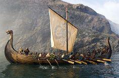 Viking ship departure