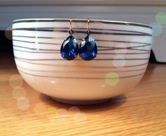 Vintage Sapphire Drops by PacificAndKey on Etsy, $12.00