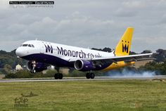 https://flic.kr/p/PSKsBC | Monarch Airlines G-OZBY Airbus A320 London Luton Airport Touchdown | Please check out my high quality 4K Ultra HD video of this aircraft at London Luton Airport here www.youtube.com/watch?v=p6G4C9fHGAI