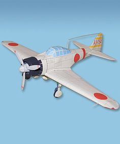 This aircraft paper model is an A6M2 Type 0 Model 21, a variant fighter of the famousMitsubishi A6M2 Zero in World War II, this papercraft was created by