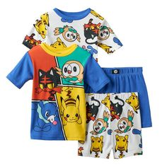 5ce582bdbd Boys 4-10 Pokemon 4-Piece Pajama Set