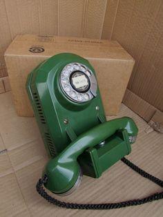 1x Old Telephone with Plug in the Set Old Vintage Socket Telephone Bakelite