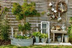 Visiting Silke - Karin Urban - Natural STyle Source by Diy Garden Projects, Diy Garden Decor, Garden Cottage, Home And Garden, Amazing Gardens, Beautiful Gardens, Garden Images, Rustic Gardens, Terrace Garden