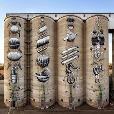 Share your graffiti and Street Art here. Murals Street Art, Art Mural, Street Art Graffiti, Art Art, Banksy, Festival D'art, Art Public, Art Du Monde, Urbane Kunst