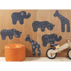 animals chalkboard