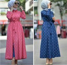 Hijab Style Dress, Modest Fashion Hijab, Abaya Fashion, Fashion Outfits, Hijab Outfit, Hijabi Gowns, Simple Kurta Designs, Modele Hijab, Mode Abaya
