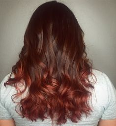 Ruby red balayage