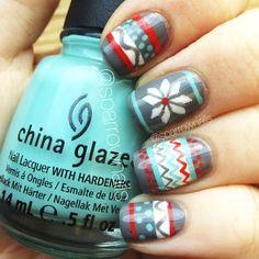 SparrowNails: Winter Sweater Nails