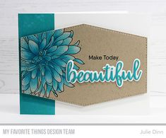 Kreative Jewels: Make Today Beautiful Birthday Cards For Women, Mft Stamps, Card Sketches, Card Kit, Flower Cards, Hobbies And Crafts, Card Templates, Stampin Up Cards, Making Ideas