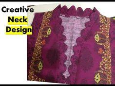 Latest and creative Neck Design Chudidhar Neck Designs, Neck Designs For Suits, Neckline Designs, Blouse Neck Designs, Dps For Girls, Stitching Dresses, Kurta Neck Design, Salwar Designs, Dress Indian Style