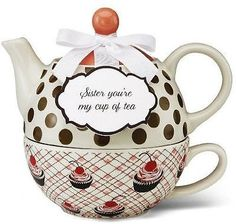 Pavilion Gift Company Pavilion Gift 49009 You and Me Tea for One Teapot Set by J