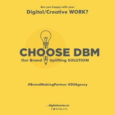 Does your Digital Strategy truly represents your Brand Image? Choose DBM to grow your network digitally.
