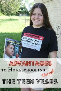 Advantages to Homeschooling Through the Teen Years - lists things such as cultivating spiritual growth, monitoring friends, nipping behavior problems early...