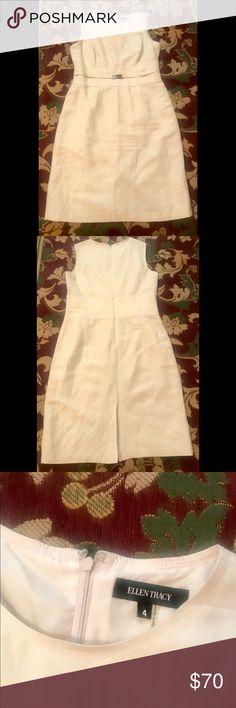 2f2dbdea6c1a Ellen Tracy, Cream Linen Dress size 4 Ellen Tracy dress is linen fabric in  size