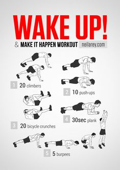Wake up and make it happen workout// i hate burpees I get tired after 2 lol seriously   ...NOT KIDDING.