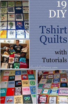 19 DIY T-Shirt Quilt Tutorials