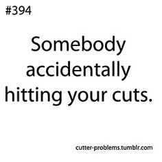 Daily problems of a self-harmer  Theres this guy I really like except he always tazers me in my hips and it hurts alot