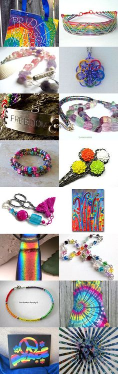 PRIDE Rainbows by Kathi Demaret on Etsy #handmade #onfireteam #lacwe #pride #jewelry #décor #accessories #vintage #fineart