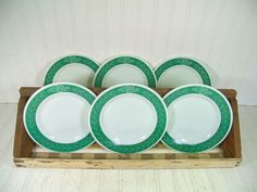 Vintage Pyrex Brand TableWare by Corning Set of 6 by DivineOrders