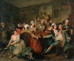 A Rake's Progress III: The Orgy (William Hogarth).