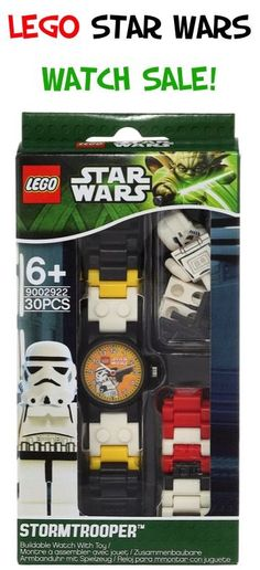 Do you have a little LEGO lover running around your house? Score an early deal with this LEGO Kids' Star Wars Stormtrooper Watch Sale for $16.00! This would make a great Christmas gift or stocking stuffer!