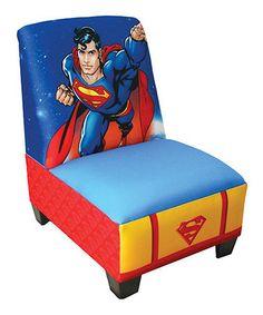 Look at this #zulilyfind! Warner Brothers Superman Armless Chair #zulilyfinds
