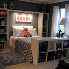 Could stand expedit up tall at the end of Z's bed. Could make a neat play area.