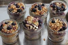 Baked Blueberry Pecan Oatmeal - in individual containers for easy servings in the am.  Plus the kids would love the jar presentation.